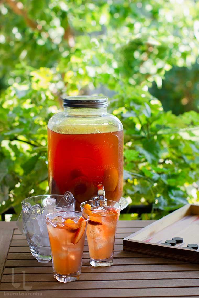 ice tea cu piersici ceai cu gheata si piersici bautura racoritoare fara zahar reteta