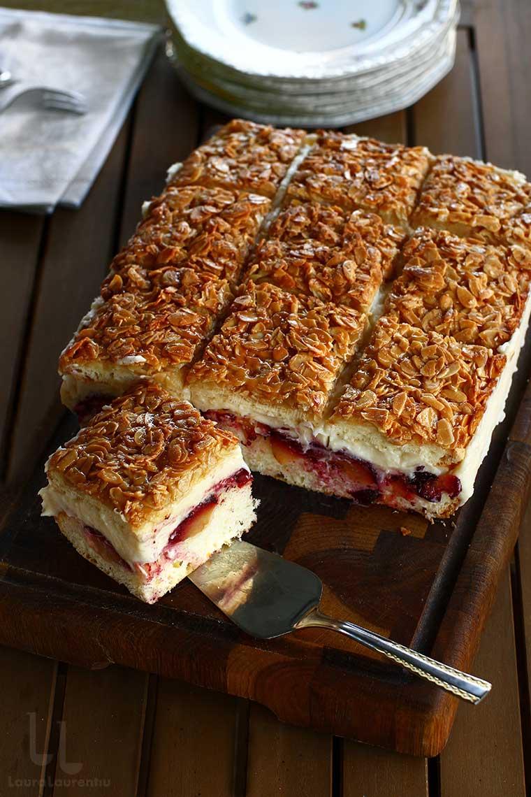 prajitura cu prune si crusta de migdale reteta laura laurentiu din cartea duminica la pranz prajitura cu prune reteta