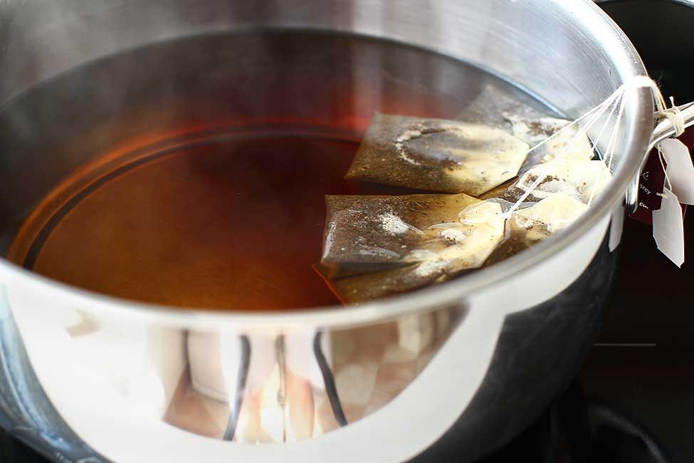 prepararea ceaiului negru