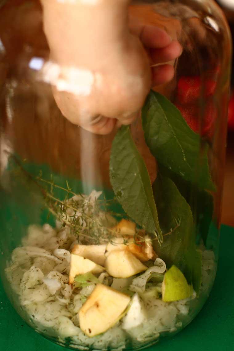 Preparare Varză murată la borcan - foi de varză murată pentru sarmale 14