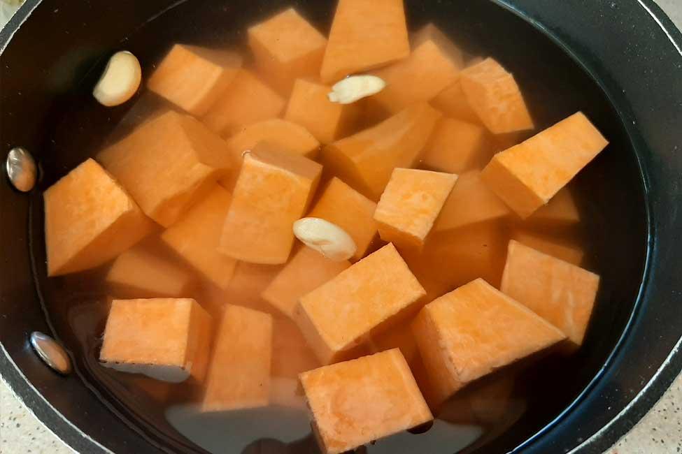fierberea cartofilor dulci