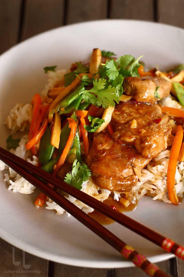porc cu legume in stil chinezesc reteta pas cu pas