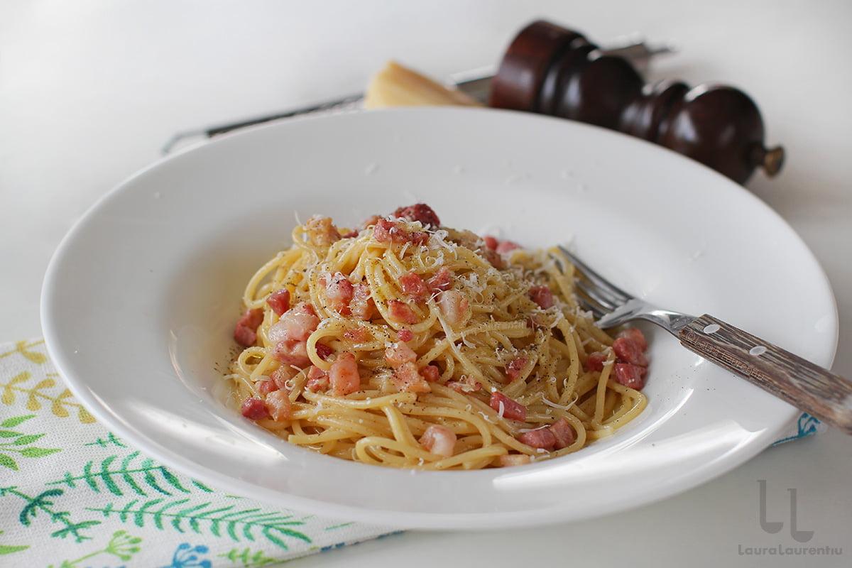 spaghetti carbonara reteta originala italiana din lazio spaghete carbonara reteta pas cu pas