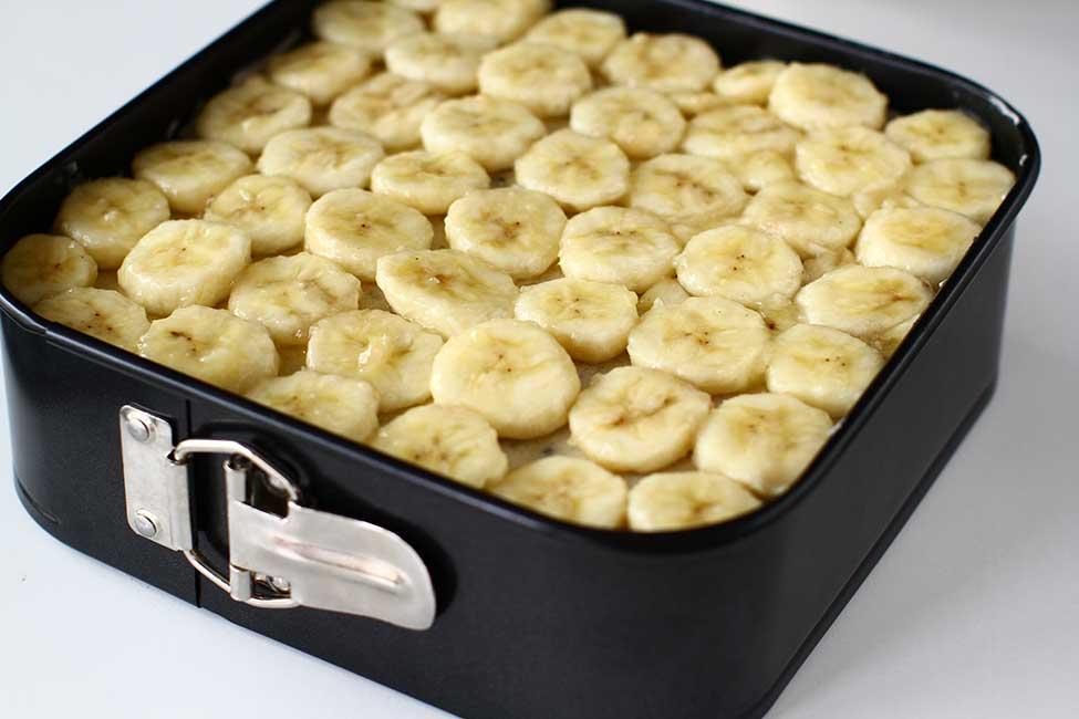 bananele pentru decor aranjate in forma