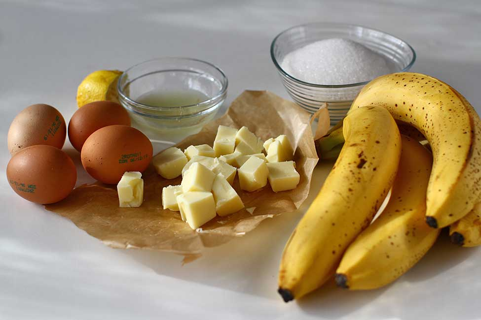 ingrediente banana curd