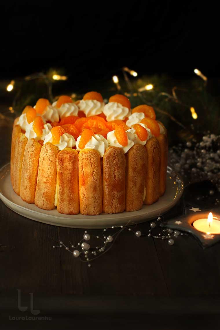 charlotte russe tort fara coacere tort cu mandarine sau portocale reteta laura laurentiu