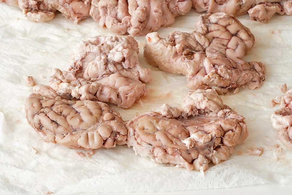creier de porc fiert
