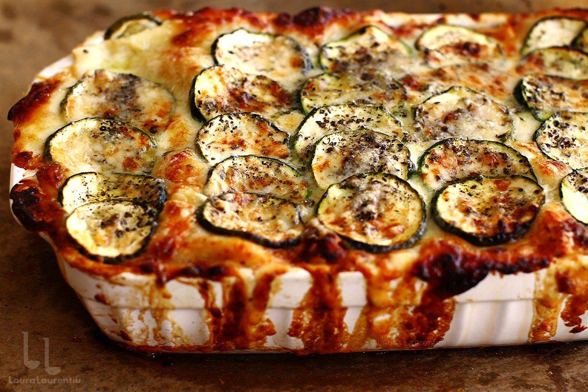 lasagna cu zucchini in tava lasagna cu zucchini reteta
