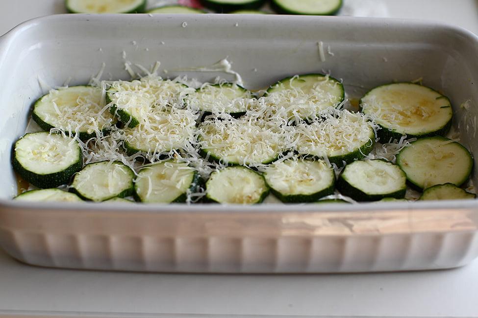 primul strat de zucchini