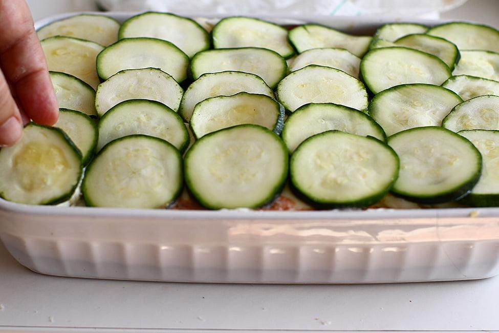 ultimul strat de zucchini lasagna cu zucchini