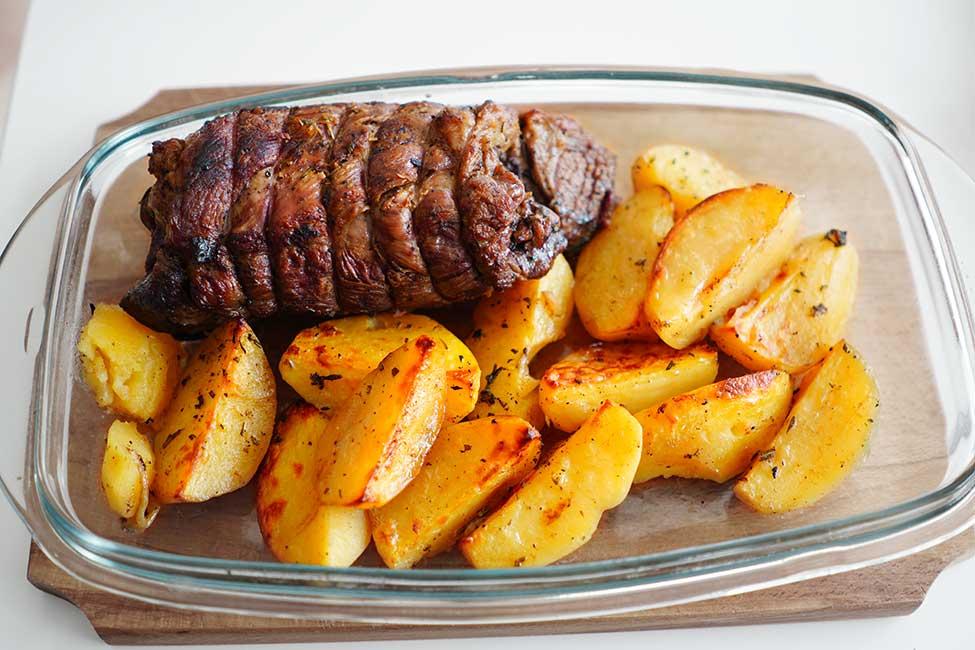 friptura si cartofii gata