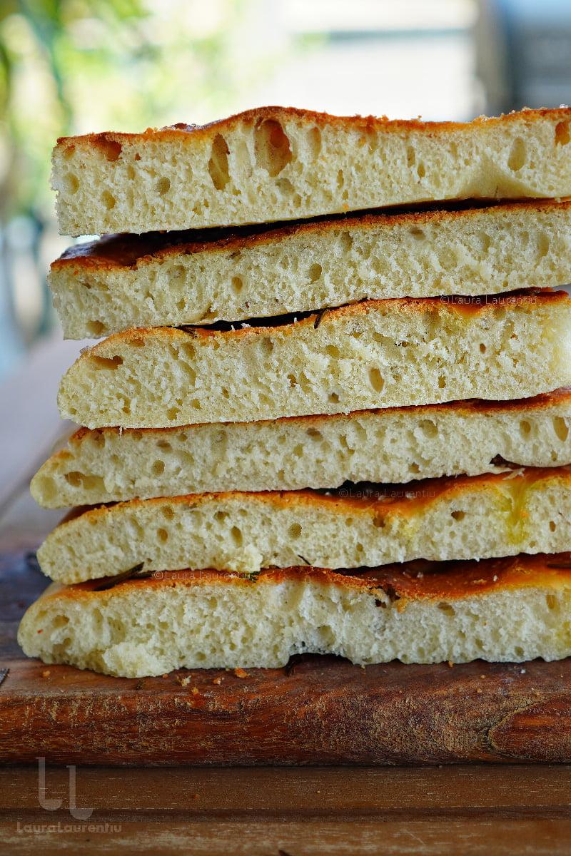 sectiune focaccia reteta paine foccacia cu ulei de masline
