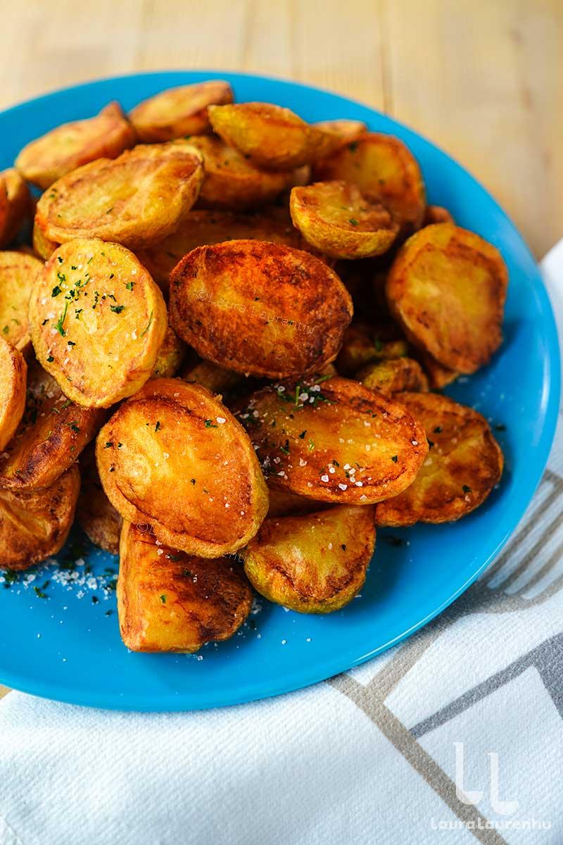 cartofi noi prajiti in untura reteta cartofi noi fripti in untura de porc sau de rata reteta