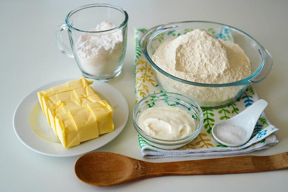 ingrediente pentru aluat fraged