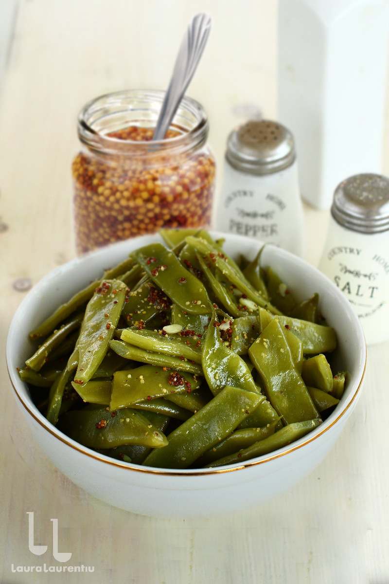 salata de fasole verde cu dressing de mustar de dijon reteta salata de fasole pastai reteta salata de fasole verde reteta laura laurentiu
