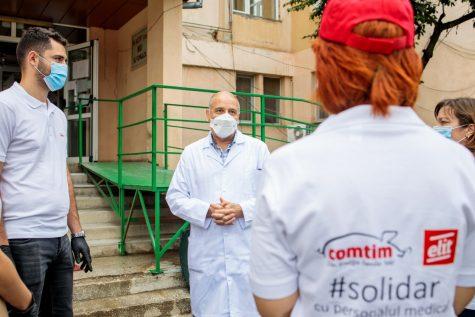 """Comtim și Elit donează 400 de porții de mâncare personalului medical de la Spitalul """"Victor Babeș""""din Timișoara"""
