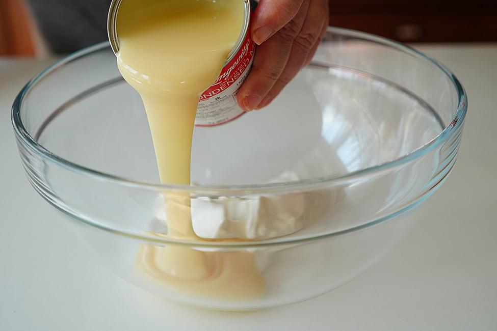 adaugare lapte condensat
