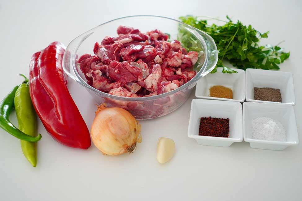 ingrediente adana kebab