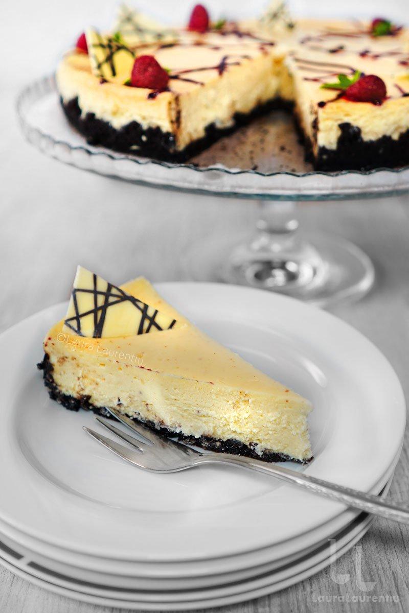 cheesecake clasic copt reteta cheesecake la cuptor reteta laura laurentiu