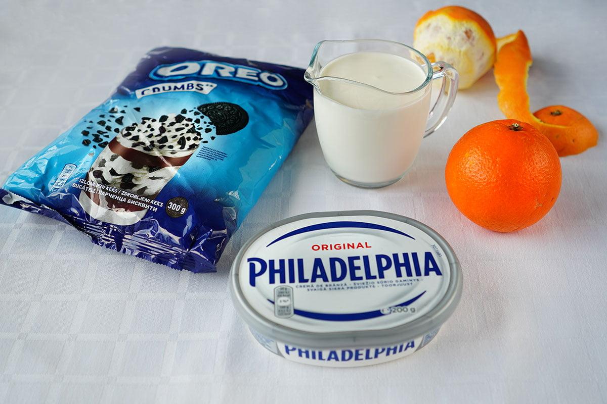 ingrediente pentru cheesecake la pahar