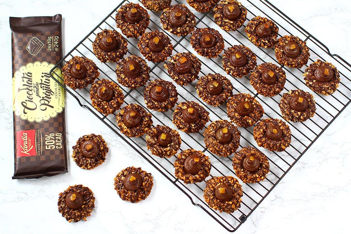 fursecuri cu ciocolata kandia pentru prajituri
