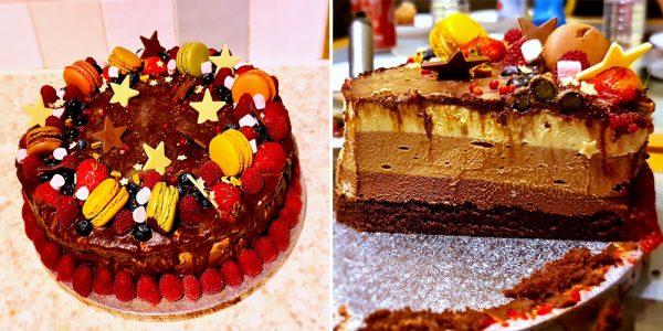 Tort Trio cu ciocolată încercat de Silvana Iulia Zaletchi