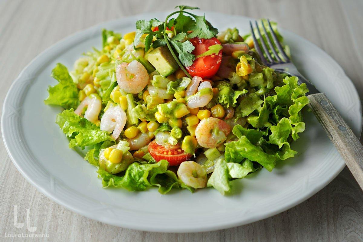 salata de creveti cu avocado si porumb reteta laura laurentiu salata cu porumb retete