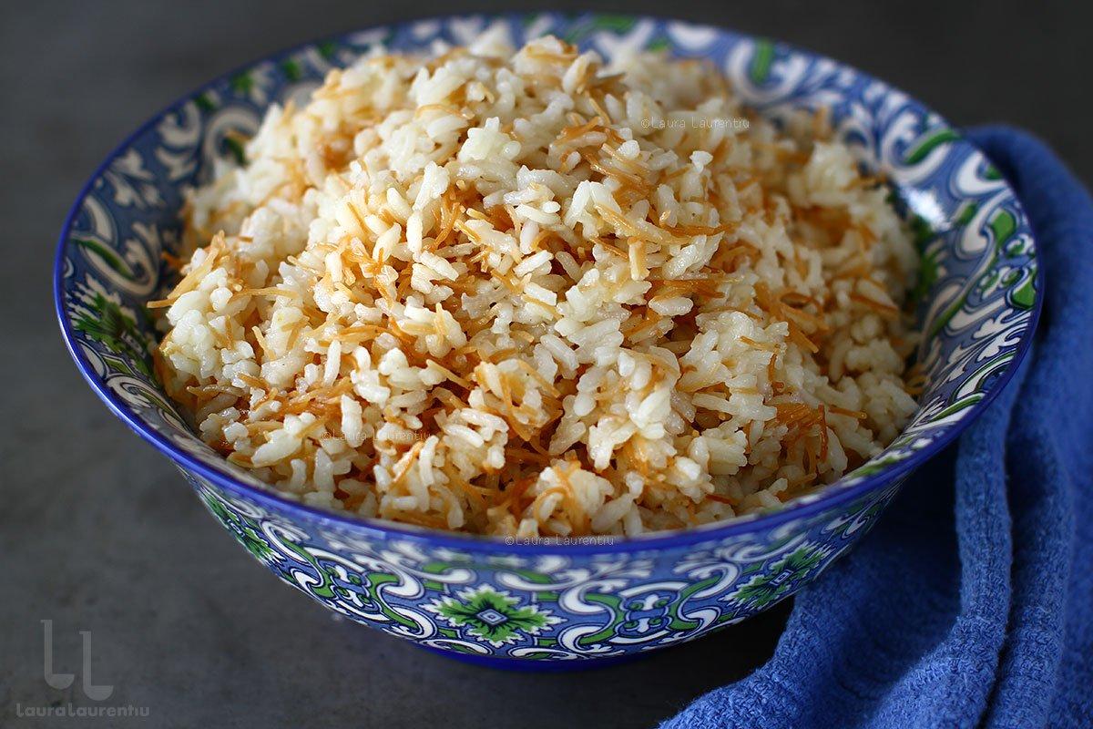 Pilaf de orez cu fidea - rețetă turcească