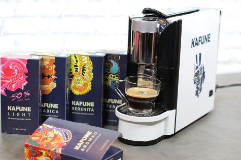 Espressor Kafune + 600 de capsule Kafune compatibile Nespresso, unboxing