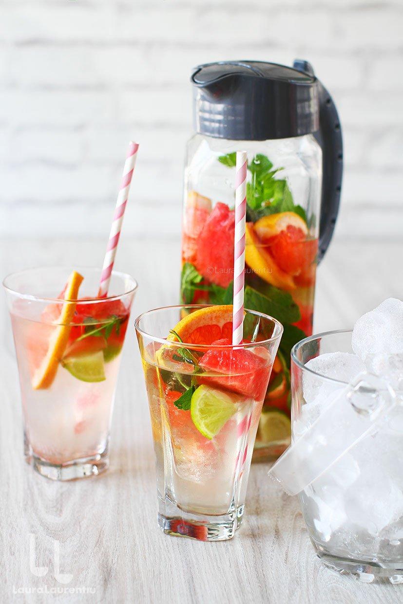 apa cu vitamine reteta apa vitaminizata facuta in casa